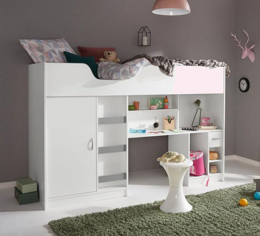 Lifestyle High Sleeper Bed with various colour options available, children's storage bed,